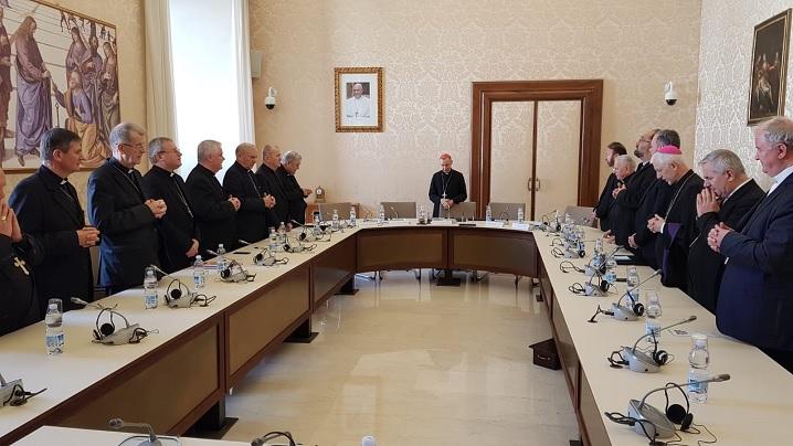 FOTO: Vizita episcopilor la Congregația pentru Doctrina Credinței