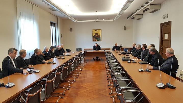 FOTO: Episcopii din România în vizită Consiliul Pontifical pentru Promovarea Unității Creștinilor