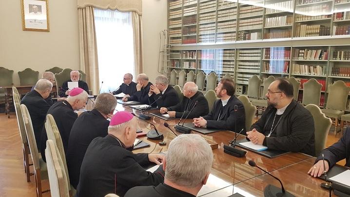 FOTO: Episcopii catolici din România în vizită la Secretariatul de Stat al Vaticanului