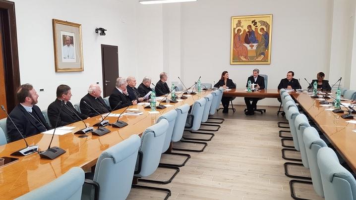 FOTO: Vizita episcopilor la Dicasterul pentru Laici, Familie și Viață