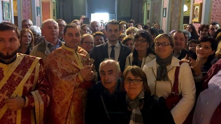 """Vizita ambasadorului României în Italia la parohia greco-catolică """"San Salvatore alle Coppelle"""" din Roma"""
