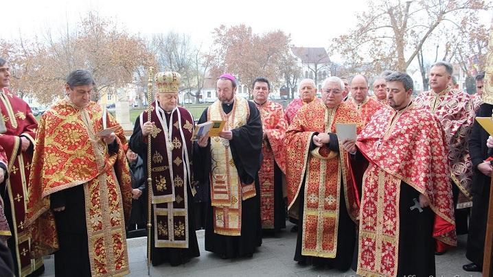 Ritualul deschiderii Porții Sfinte cu ocazia Anului Sfânt al Milostivirii, la Catedrala Arhiepiscopală Majoră din Blaj
