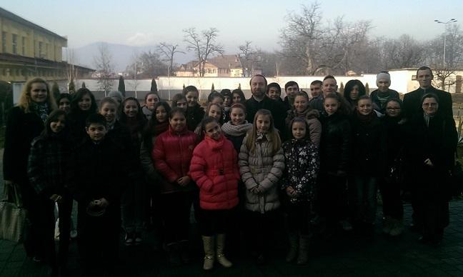 FOTO: Colindători la Curia Arhiepiscopiei Majore din Blaj