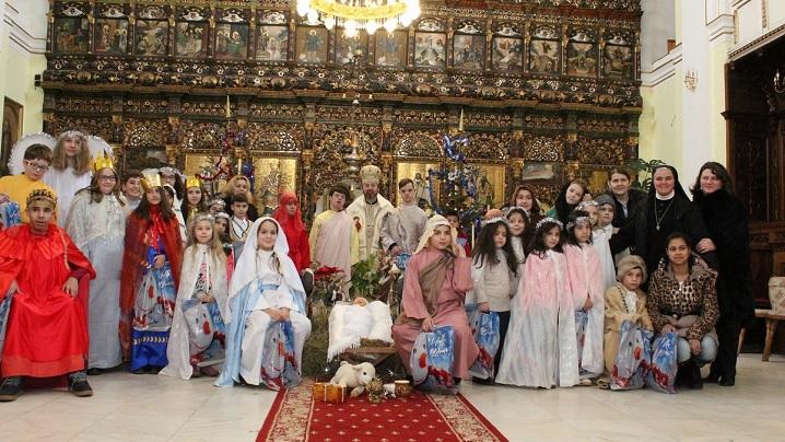 FOTO: Sceneta Nașterii Domnului nostru Isus Cristos în Catedrala Blajului