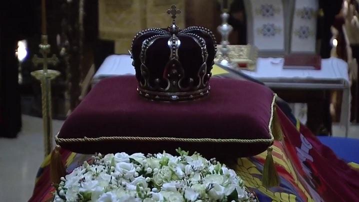 Rugăciune din partea Bisericii Greco-Catolice la catafalcul Regelui Mihai