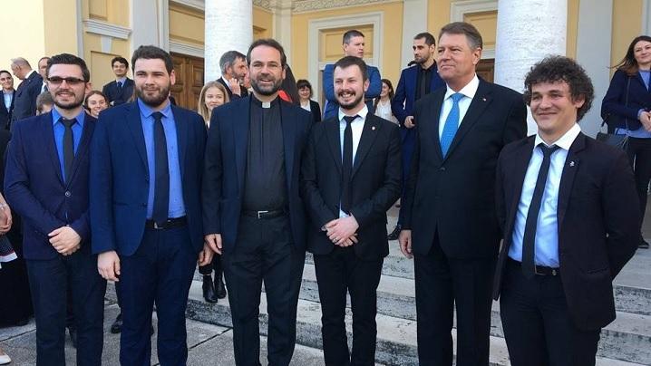 Colegiul Pio Romeno prezent la întâlnirea Președintelui României cu studenții români