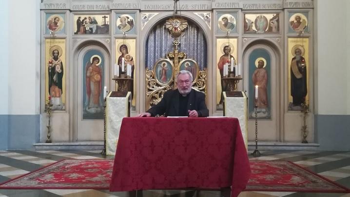 "Conferința ""Darurile Spiritului Sfânt"" la Colegiul Pio Romeno"