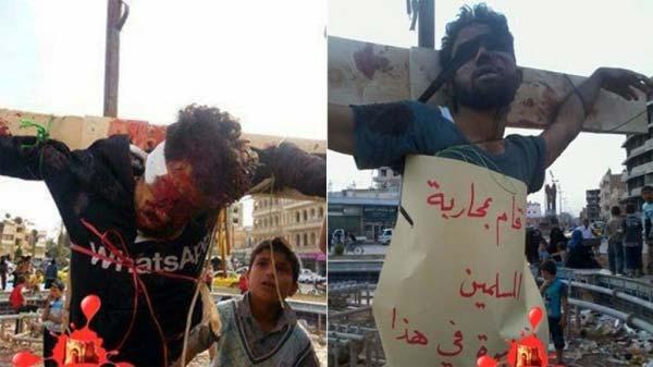 Mai multe persoane au fost răstignite în Siria