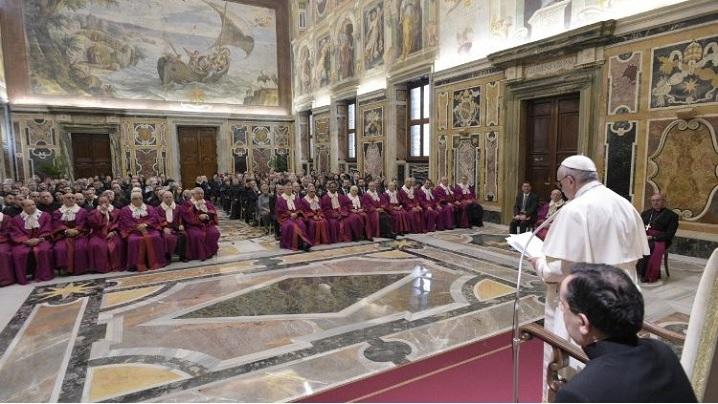 Sfântul Părinte la inaugurarea Anului Judiciar al Tribunalului Rota Romana