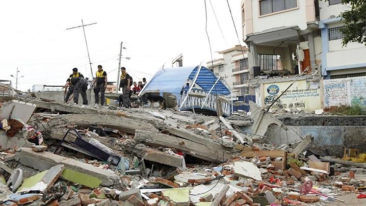 100 de mii de euro pentru victimele cutremurului din Ecuador