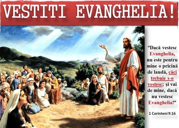 """""""Omenirea se sufocă, vestiţi urgent Evanghelia!"""""""