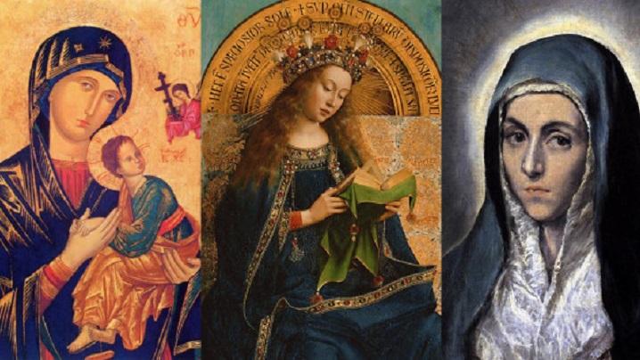 De ce este înveșmântată cu albastru Fecioara Maria?
