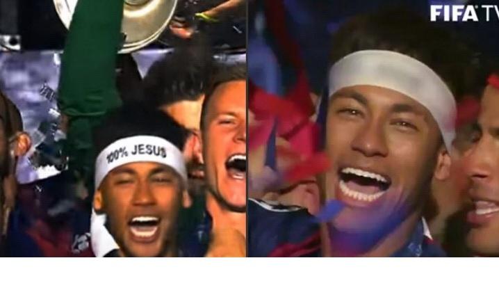 VIDEO: FIFA a CENZURAT numele lui ISUS de pe banderola purtată de Neymar