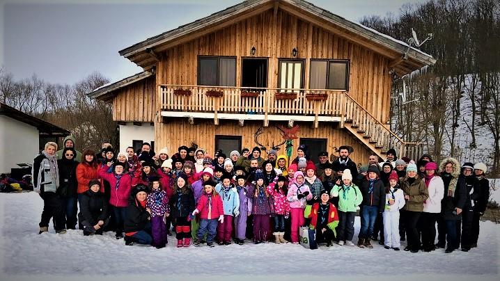 Prima Tabără de iarnă a grupului de cercetași din Beclean