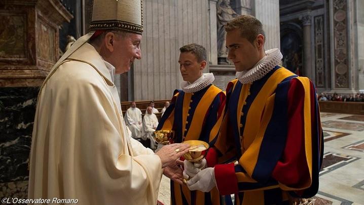 Cetatea Vaticanului: Sfântă Liturghie cu noile gărzi elevețiene