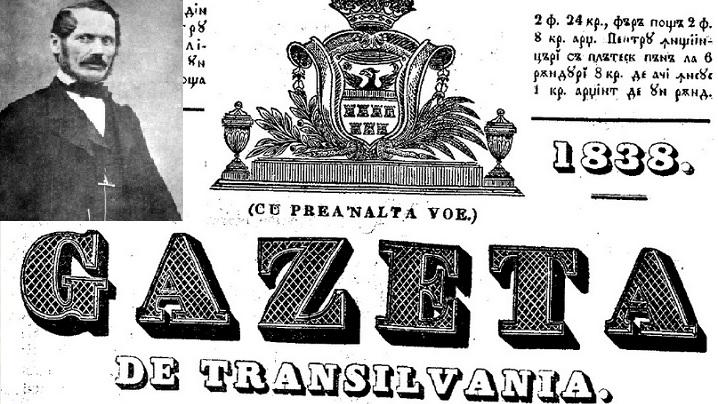 181 de ani de la apariția primului ziar românesc din Transilvania. Fondator greco-catolic