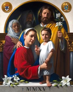 Icoana şi rugăciunea pentru întâlnirea familiilor din Philadelphia (SUA) în 2015