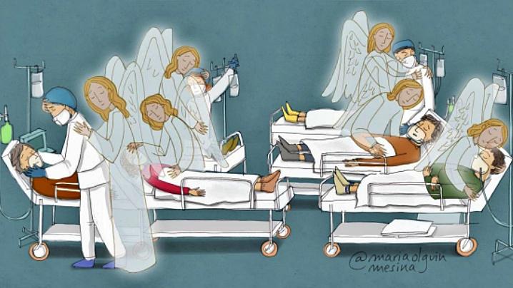 Desene ce surprind internauții și ne amintesc că Dumnezeu este cu noi