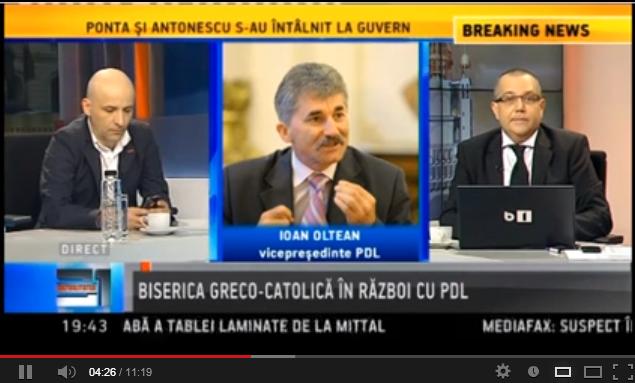 B1 Tv despre proiectul de lege anti greco-catolic