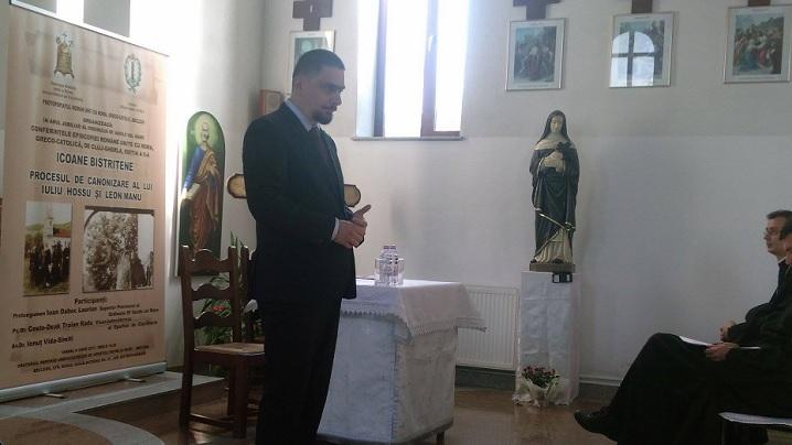 FOTO: Conferința ICOANE BISTRIȚENE, PROCESUL DE CANONIZARE AL LUI IULIU HOSSU ȘI LEON MANU, la Beclean