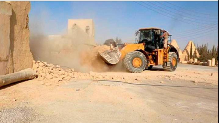 VIDEO: IS distruge o mănăstire catolică siriană - Ferocitatea iconoclastă