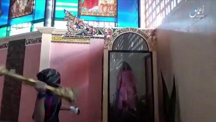 Video șocant: Biserică profanată în Filipine