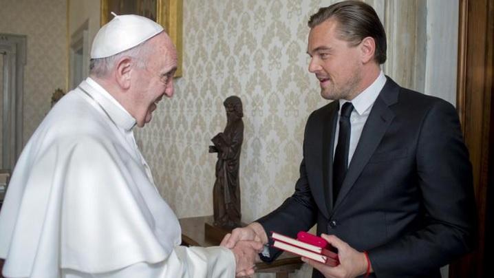 Leonardo DiCaprio a fost primit în audiență de Papa Francisc