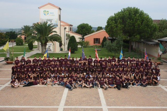 Tineri români participanţi la Campusul Ecumenic Internaţional de la Loreto