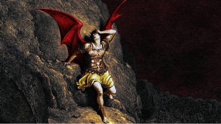 Sfântul Francisc de Assisi stă pe Tronul lui Lucifer
