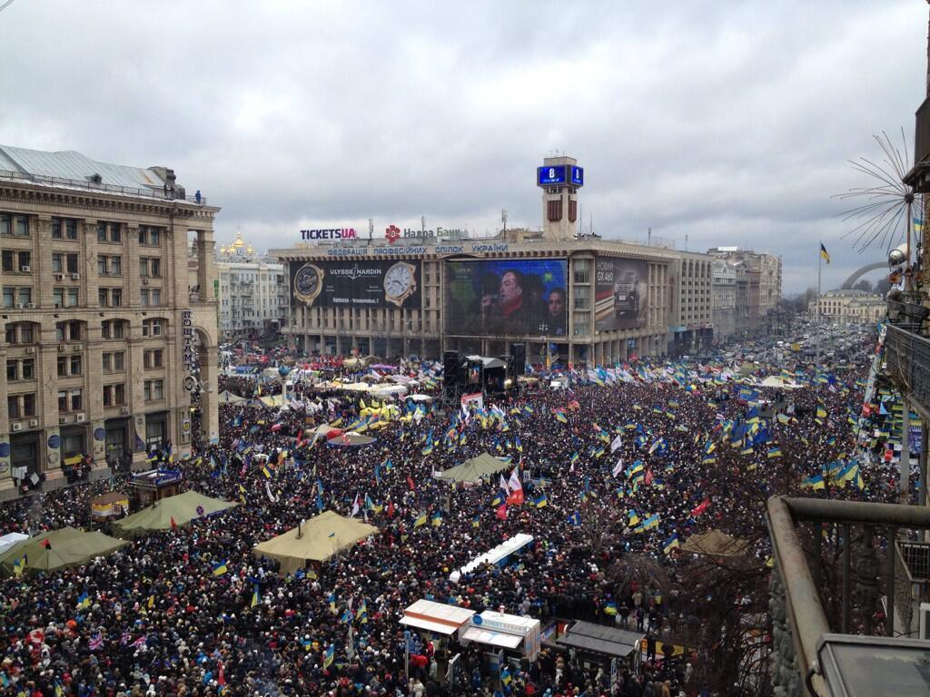 Episcopii Bisericii Greco-Catolice Ucrainiene au celebrat Sfânta Liturghie în mijlocul protestatarilor aflați în Piața Maidan din Kiev
