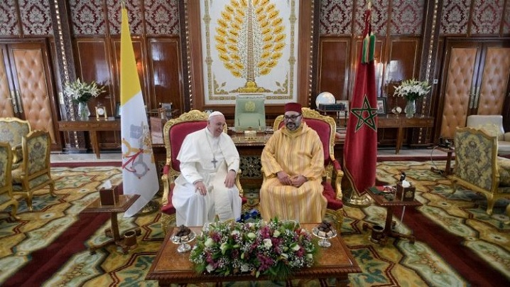 """""""Apel privind Ierusalimul"""" semnat în Maroc de Papa Francisc și regele Mohammed VI"""