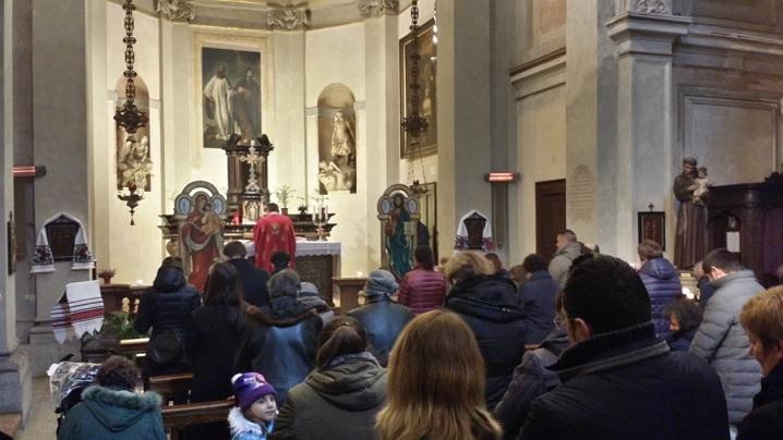 Hramul parohiei greco-catolice din Milano