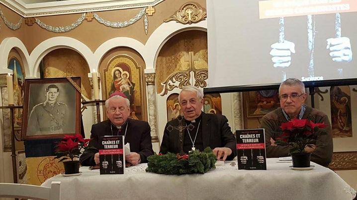 FOTO: Cartea LANȚURI ȘI TEROARE prezentată la Misiunea Greco-Catolică Română din Paris