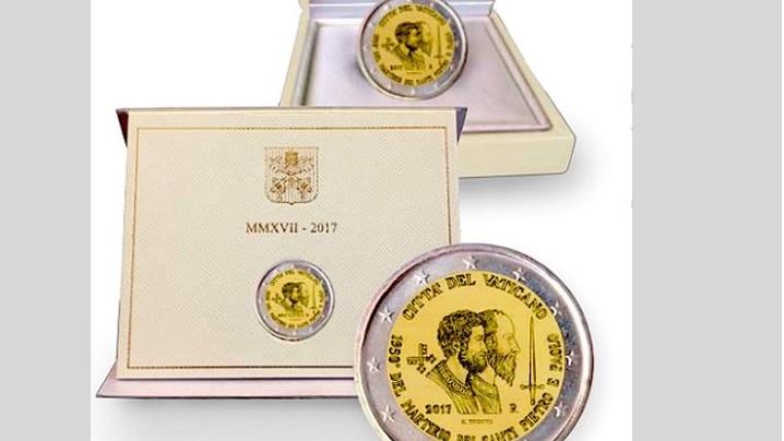 Monedă comemorativă la împlinirea a 1950 de ani de la martiriul sfinților Petru și Pavel