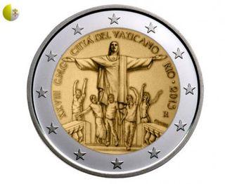 Vaticanul va emite o monedă de 2 euro cu imaginea Mântuitorului Cristos de la Rio