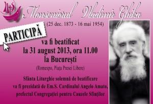 Programul evenimentelor de la București prilejuite de Beatificarea Monseniorului Vladimir Ghika