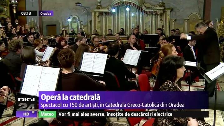 VIDEO. Concert de operă în Catedrala greco-catolică din Oradea