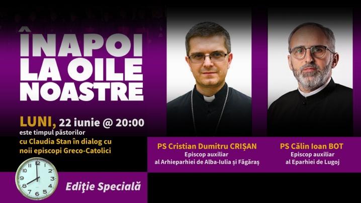 ANUNȚ: Noii episcopi în direct la ORA CATOLICĂ