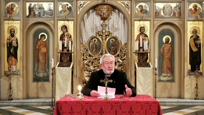 Conferința spirituală a părintelui Mihály Szentmártoni la Colegiul Pio Romeno