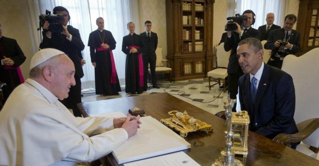 Întâlnire oficială la Vatican între Papa Francisc şi Barack Obama