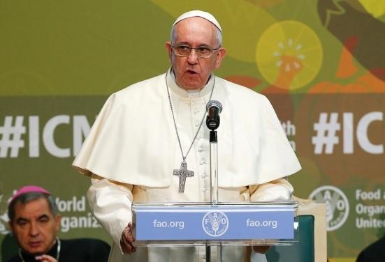 Discursul Papei Francisc la sediul ONU  pentru Alimentaţie şi Agricultură (FAO)