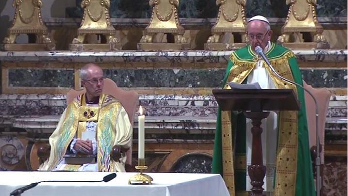 Papa va vizita Biserica anglicană din Roma