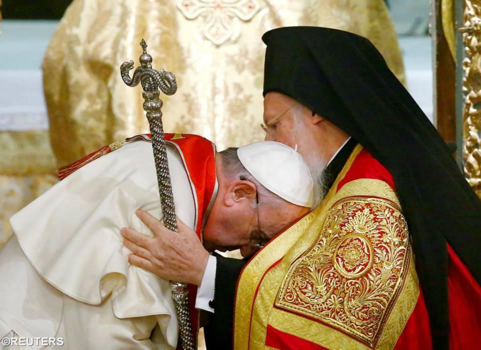 Papa Francisc pledează pentru unitatea bisericilor catolică și ortodoxă