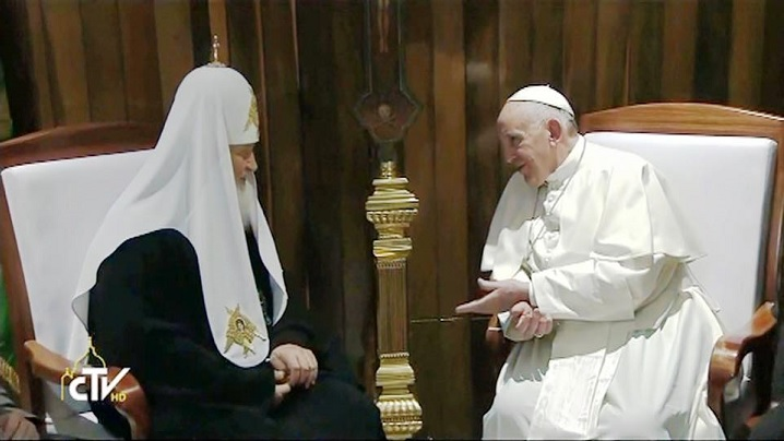 Papa Francisc în Cuba: colocviul cu patriarhul Kirill