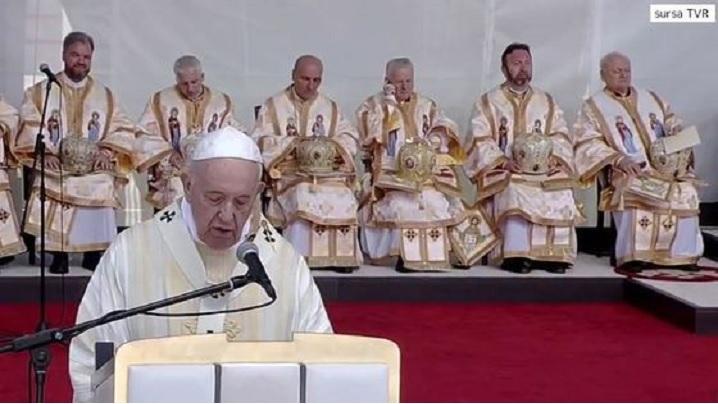 Papa Francisc în România - vizita la Blaj