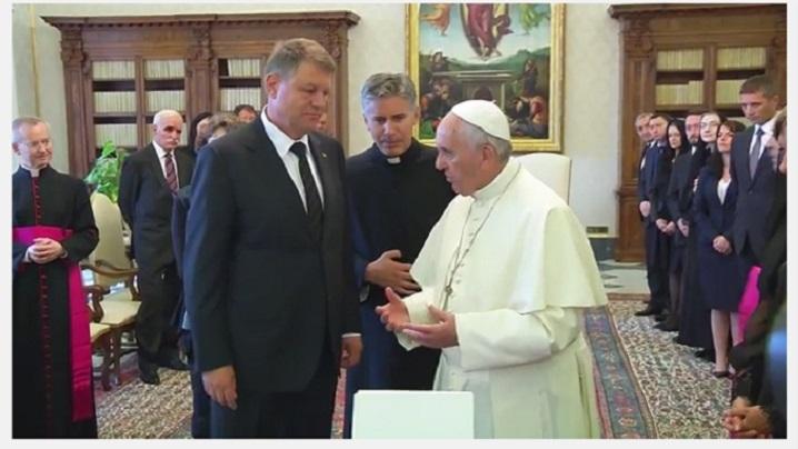 Întrevedere Klaus Iohannis - Papa Francisc