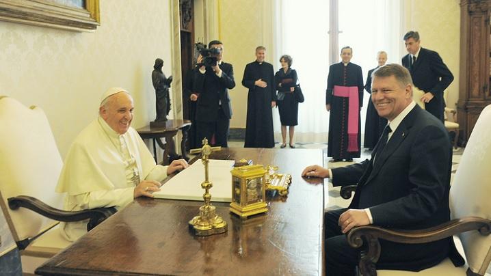 Președintele României în audiență la Papa Francisc
