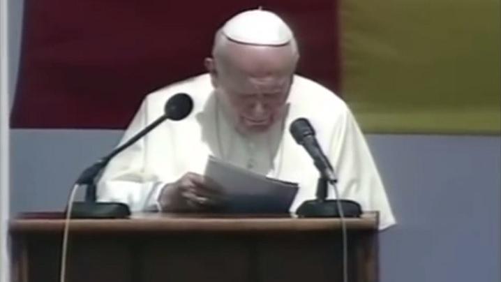 Cuvintele Sfântului papă Ioan Paul al II-lea la plecarea din România