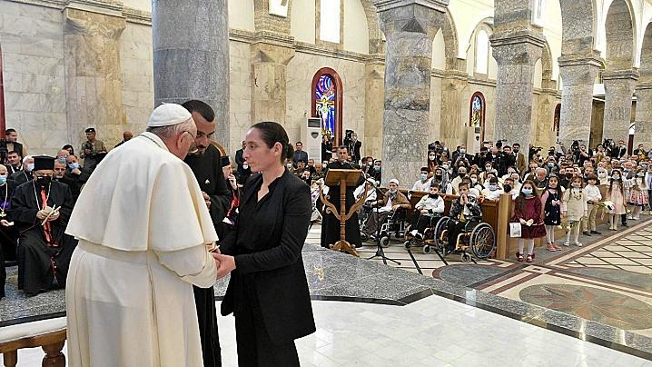 Angelus cu papa Francisc la Qaraqosh, în Irak: Terorismul și moartea nu au ultimul cuvânt