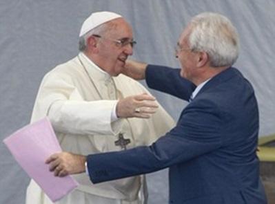 Papa Francisc a vizitat comunitatea penticostalilor din Caserta